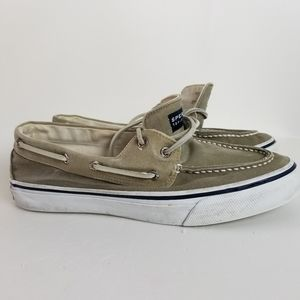 Sperry top sliders boat shoes tan 10M